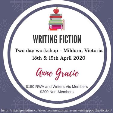 Writing Fiction with Anne Gracie | Apr 18 to April 19, 2020
